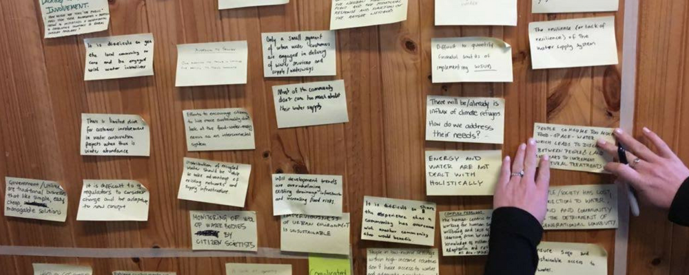 Design thinking - post-its on board