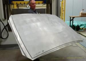 Formed ZEK100 Roof Panel