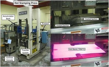 Hot stamping facility at the University of Waterloo