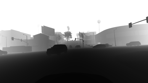 Linearized Depth Map (Greyscale)