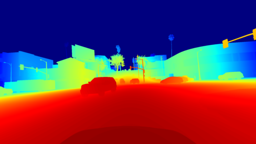 Linearized Depth Map (Colour)