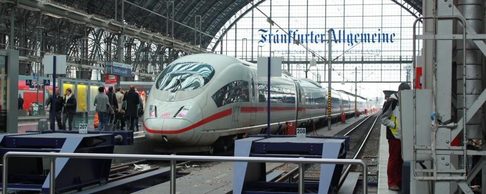 Intercity-Express train in Frankfurt