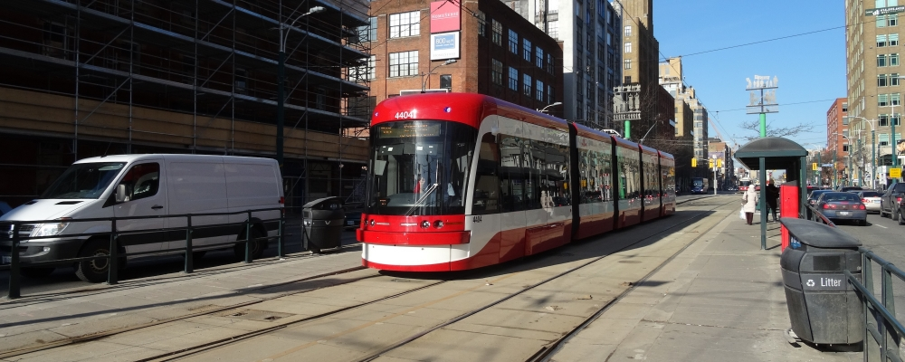 Toronto Transit Commission streetcar on Spadina