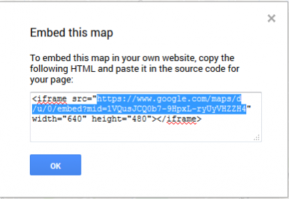 Embed map URL code.