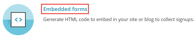 Embedded forms on MailChimp site.
