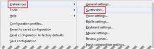 Select Preference, and then select Synthesizer...