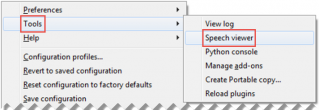Select Tools, and then select Speech viewer.