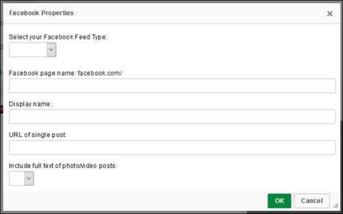 How to add a Facebook widget | Web Resources | University of