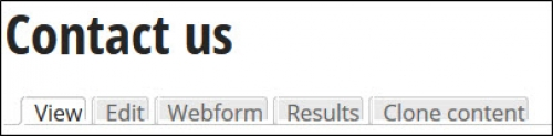 Web form tabs.