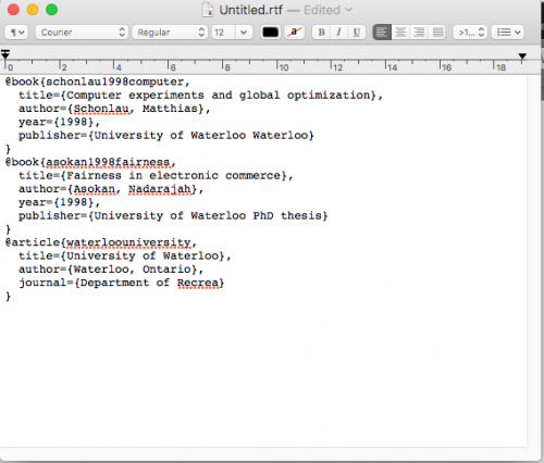 Pasting more articles into text editor from Google Scholar