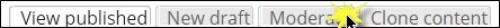 Moderate tab selected.