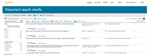 Export selected publications from Scopus site