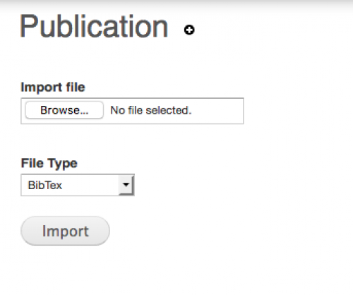 Clicking import to start import on UWaterloo Scholar