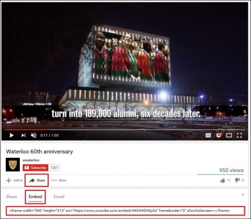 Youtube sharing screen