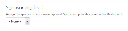 Add sponsorship level