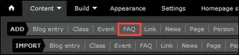 FAQ circled