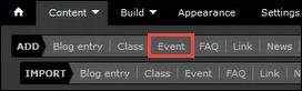 Event circled