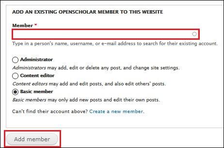 Adding existing member