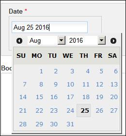 Add news date field.