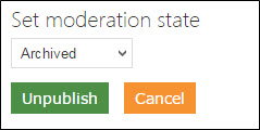 Changing moderation state to Archived.