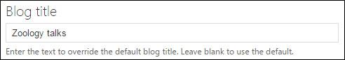 Blog post title field.