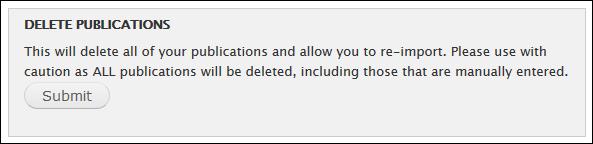 Delete publications
