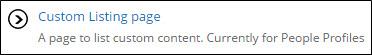 Custom listing page link.