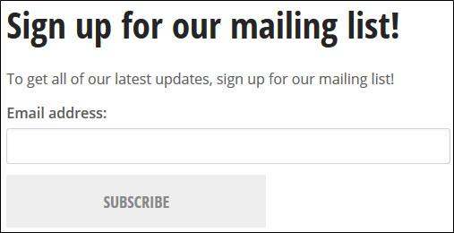 Published MailMan embed.