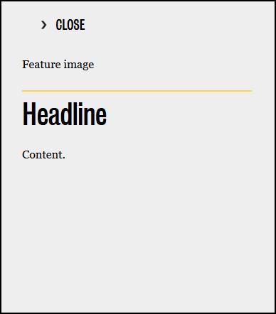 Nested publication pop up sample