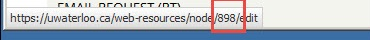 Node number at bottom of browser window.