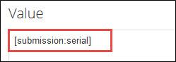 Serial token entered in Value field.