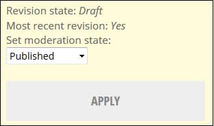 Change moderation state to publish.