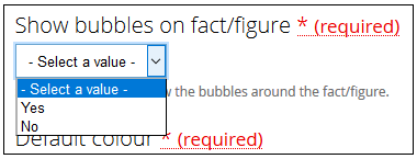Show bubbeles on fact/figure field.