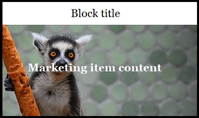 single page marketing item block