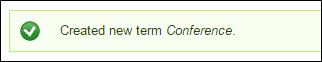 Created new term notification.