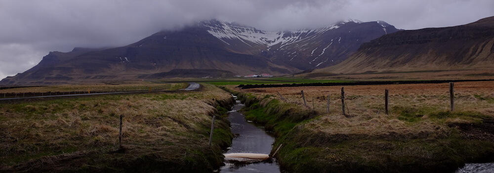 Peatland drainage on the Snæfellsnes peninsula of Iceland