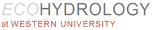 Ecohydrology at Western University logo
