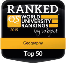 Geography at the Unviersity of Waterloo is ranked top 50 by QS World.