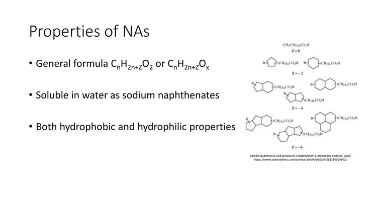 Page 3 of Naphthenic Acid Overview Presentation