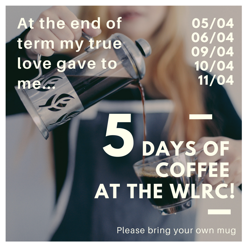 5 Days of Coffee at the WLRC advertisement