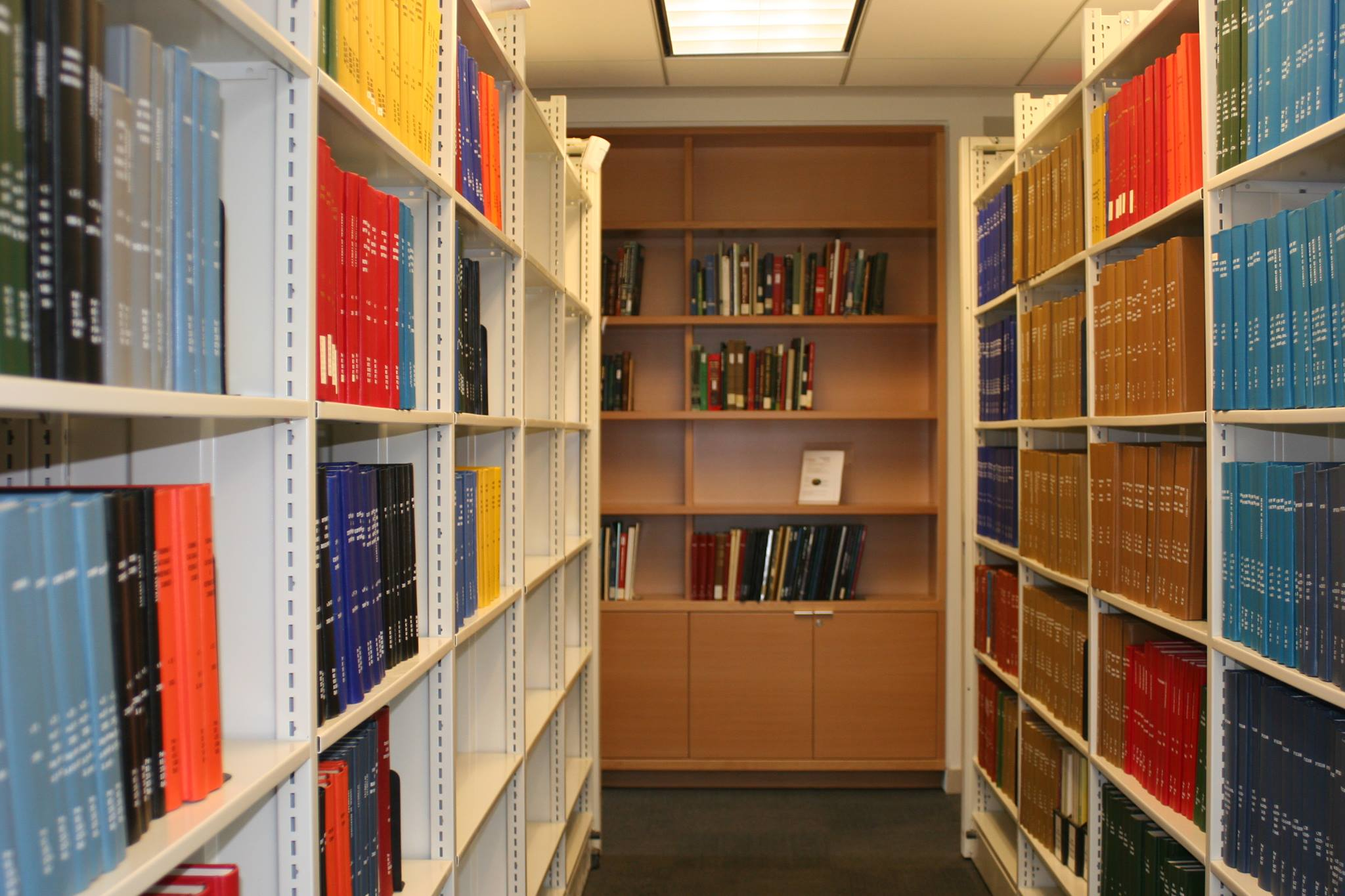 View of the bookshelves in the WLRC