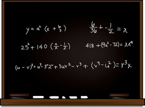 blackboard with equation