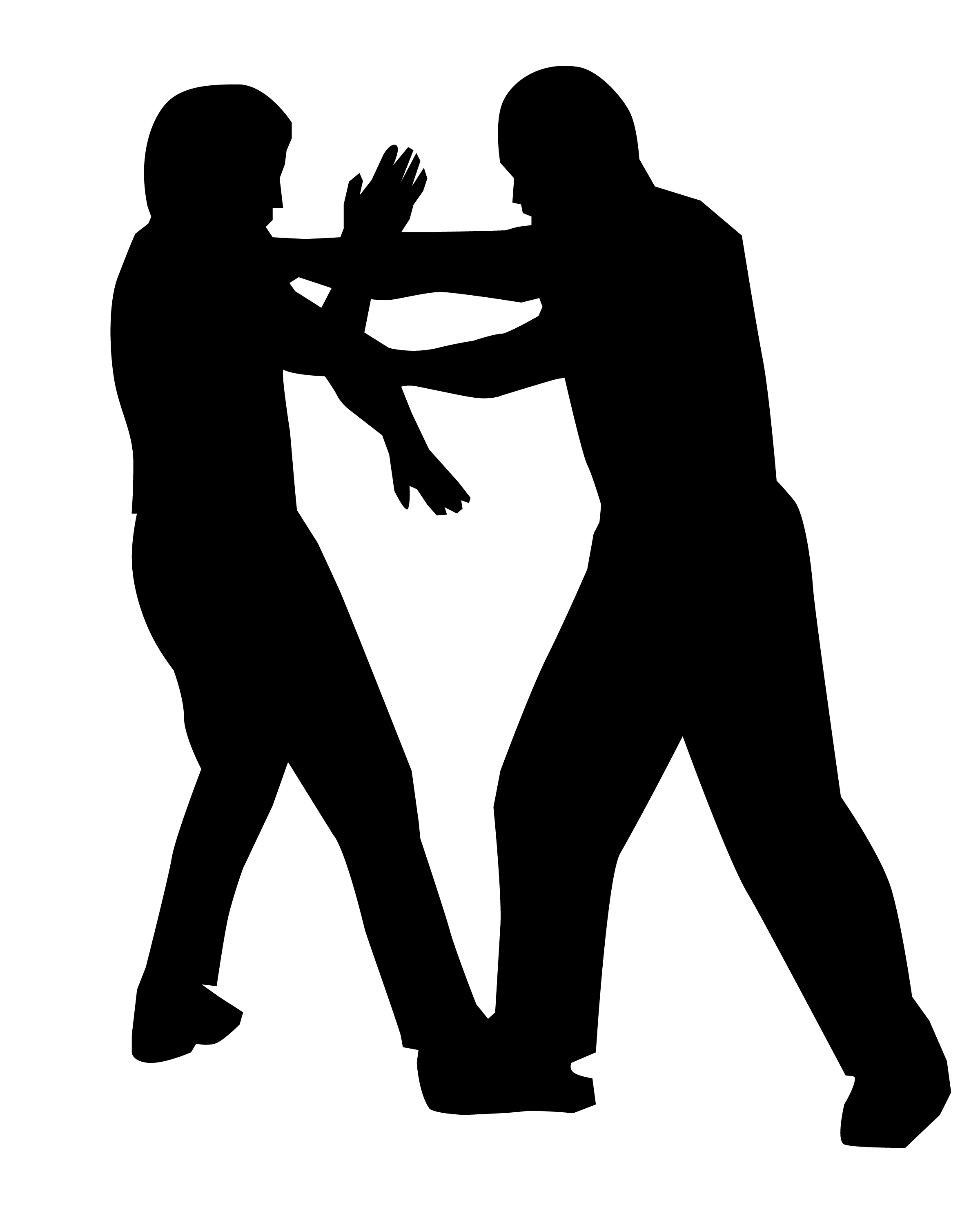 self defense silhoutte