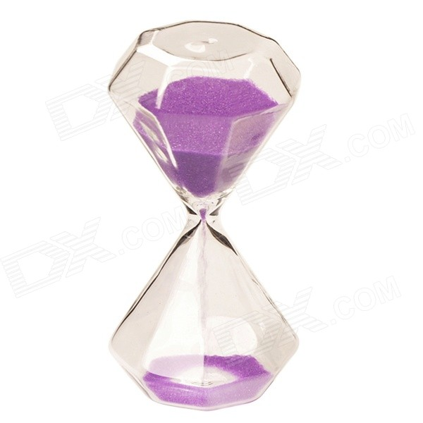 purple hour glass