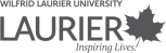 Wilfred Laurier University logo.