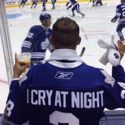 "Leafs meme captioned ""I cry at night"""