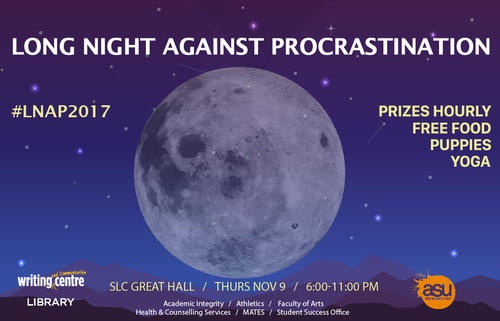 """Image for the """"Long Night Against Procrsatination LNAP"""""""