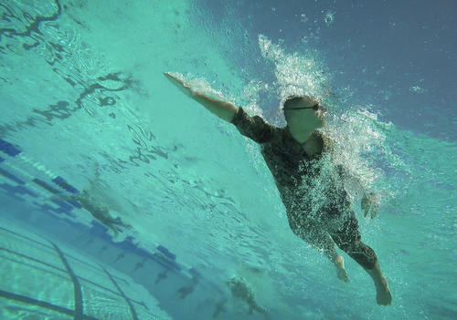 Front crawl from underwater