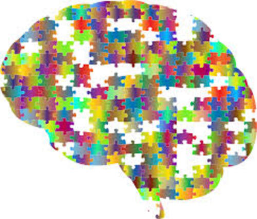 brain made of puzzle pieces