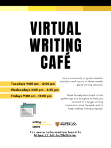 Virtual writing cafe poster